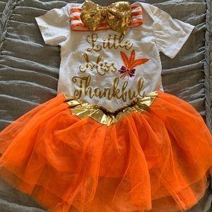 "Babygirl Thanksgiving sett ""Little Miss Thankful"""